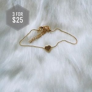 Jewelry - 🌼3 for $25🌼 Gold Heart bracelet